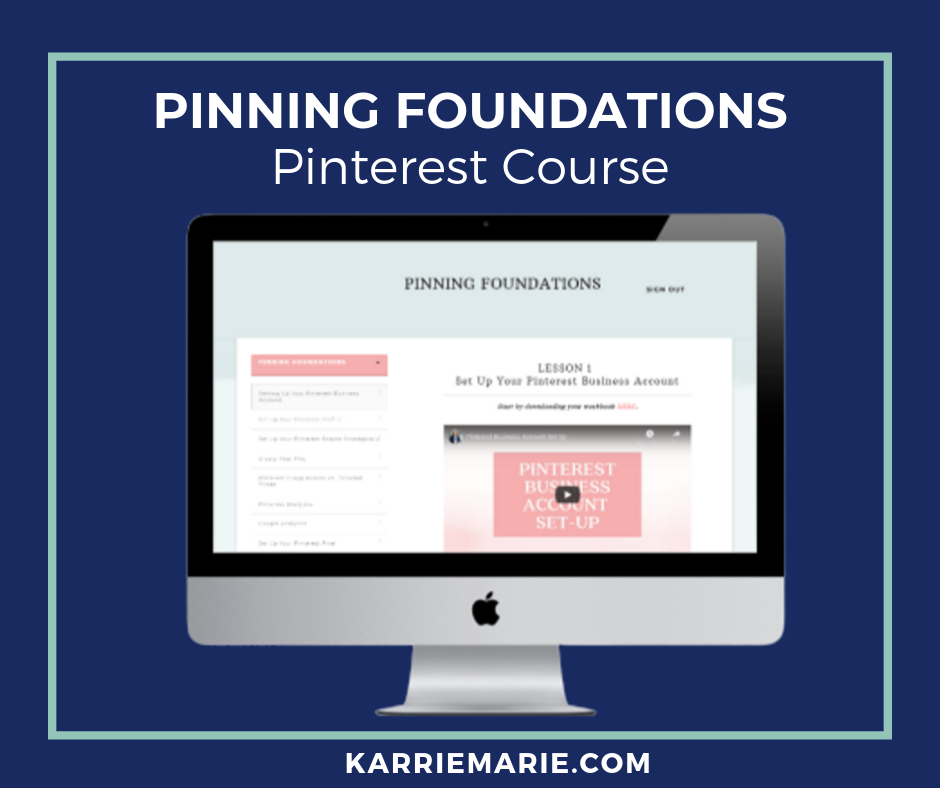Pinning Foundations Pinterest Course