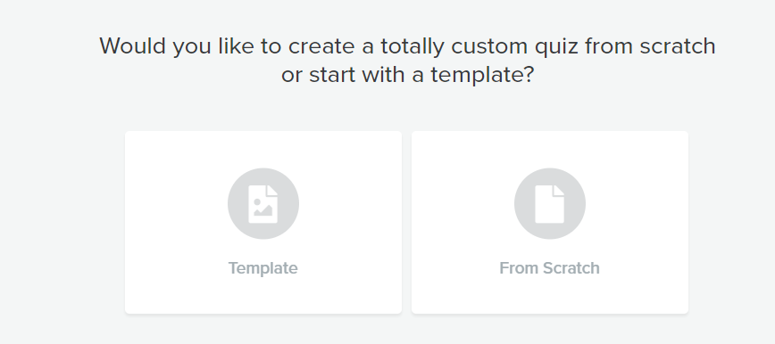 what type of interact quiz? template or from scratch